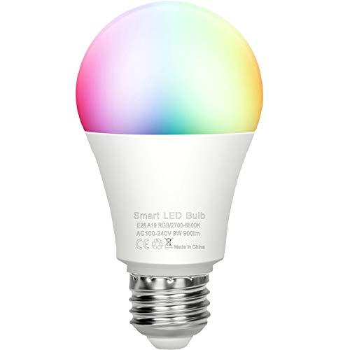 スマート電球 WiFiスマート電球 E26 驚きの価格が実現 9W 1600万色自由操作できる お洒落 AlexaとGoogle 日の出と日没 Homeで使用