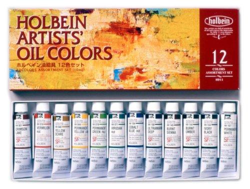 ホルベイン 豊富な品 油絵具 12色セット H911 4号 000911 2020モデル 10ml