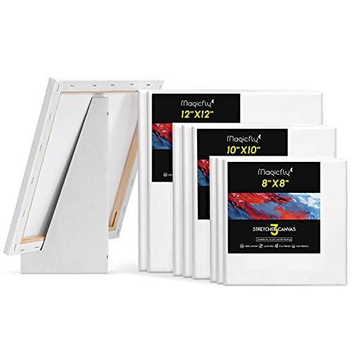 Magicfly 張りキャンバス キャンバス 画材 30.5×30.5cm 日本 9枚セット 25.4×25.4cm 木枠 いつでも送料無料