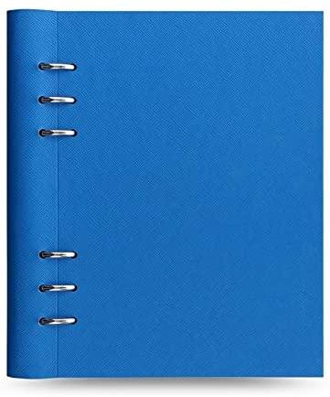 激安☆超特価 filofax クリップブック サフィアーノ SEAL限定商品 フルオロ Blue システム手帳 A5