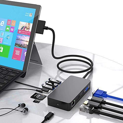 定番キャンバス Surface 定番の人気シリーズPOINT(ポイント)入荷 Pro 4 6 USBハブドッキングステーション用のSurface 5
