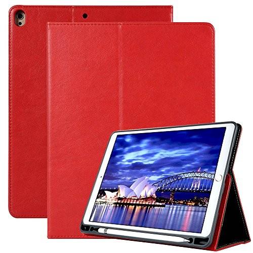 iPad Pro 10.5 ケース Apple Pencil 収納機能 [無料スタイラスペン] 上質レザー素材