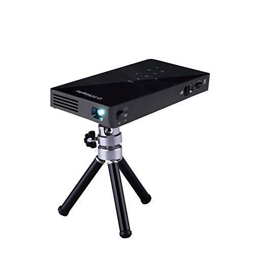PTVDISPLAY 小型 プロジェクター 1080PフルHD対応 WIFIホームシアター DLP ビデオプロジェクター 台形補正