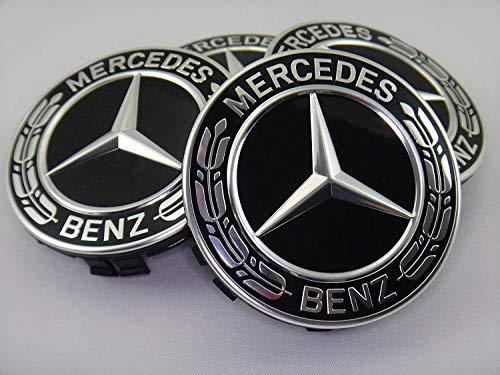 Mercedes-Benz 送料無料新品 メルセデス ベンツ純正 セール開催中最短即日発送 センターキャップ ハブキャップ ローレルリース グロスブラック