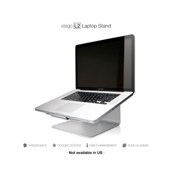 elago L2 STAND 各種 Macbook / ノートパソコン 対応 99% ピュアアルミ スタンド シルバー