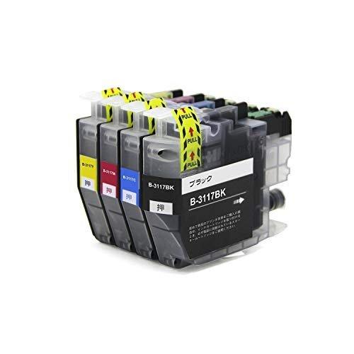 日時指定 brother ブラザー LC3117互換インクカートリッジ 送料無料激安祭 4色セット BK Y 最新インク残量表示対応チップ付き M C