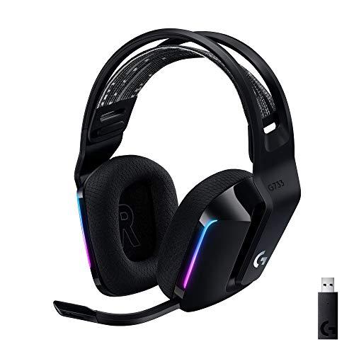 ヘッドセット Logicool G ゲーミングヘッドセット LIGHTSPEEDワイヤレス 高級な 7.1ch VO G733 BLUE 永遠の定番 CE搭載マイク