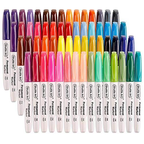 Shuttle Art 油性マーカー カラーペン マーカーセット アートマーカー 塗り絵 毎日激安特売で 営業中です 安い 激安 プチプラ 高品質 細字 速乾 耐水 子供用 60色
