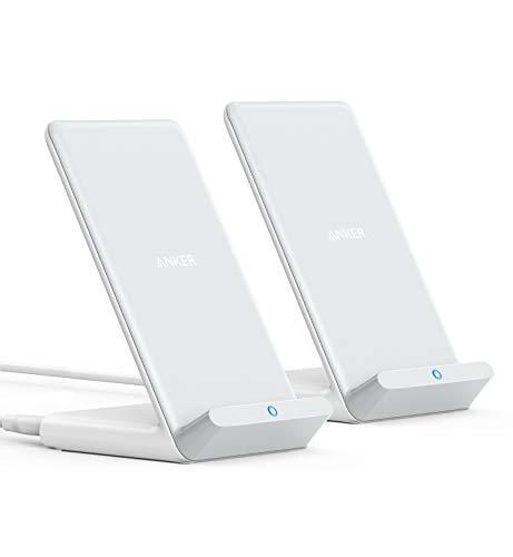 2個セットAnker PowerWave 引き出物 10 Stand 改善版 iPhone 公式 Qi認証 12 ワイヤレス充電器