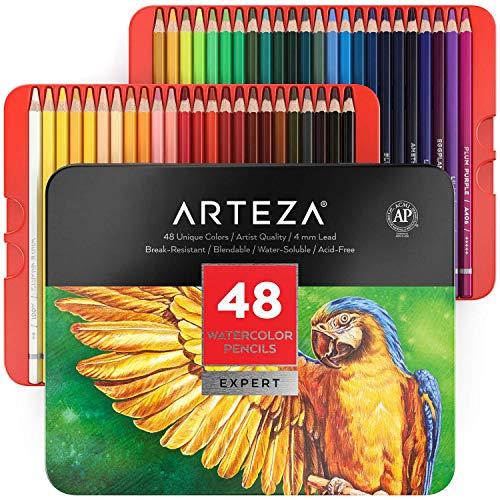 100%品質保証! ARTEZAプロフェッショナル水彩色鉛筆 48本セット 鮮やかな色合いのマルチカラーアートドローイングペンシル ブレンド 再販ご予約限定送料無料 塗り絵
