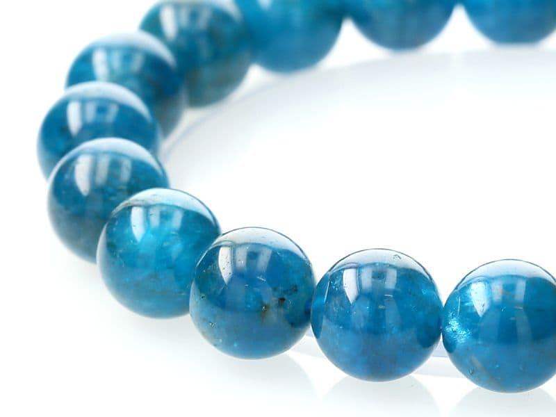 ブルーアパタイト ブレスレット 10mm玉 No.29 パワーストーン 天然石 フォレストブルー【画像現物】