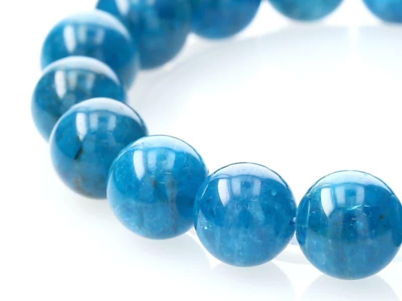 ブルーアパタイト ブレスレット 11.5mm玉 No.31 パワーストーン 天然石 フォレストブルー【画像現物】