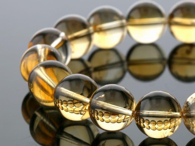 【10倍!】シトリン ブレスレット 12mm玉 No.15 パワーストーン 天然石 【画像現物】