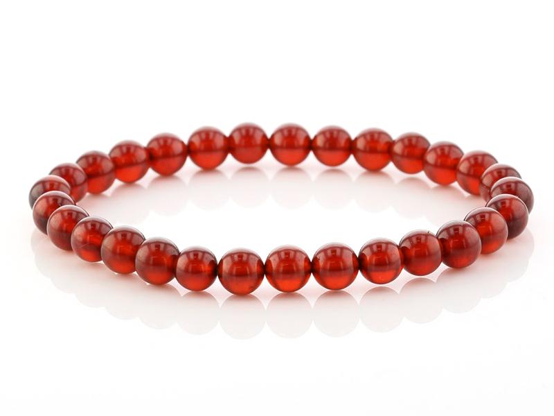 Highest grade (5A) orange garnet (the navel night) bracelet 6.5mm ball No. 2