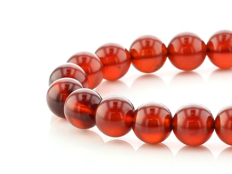 オレンジガーネット(ヘソナイト) ブレスレット 10.5mm玉 No.14 パワーストーン 天然石 フォレストブルー【画像現物】