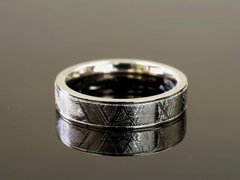 ギベオン隕石 ギベオン隕石 リング [シルバー]・指輪 (ギベオン+チタン)Type2 リング・指輪 [シルバー], リサイクル通販 スリフティ:14f9140f --- sunward.msk.ru