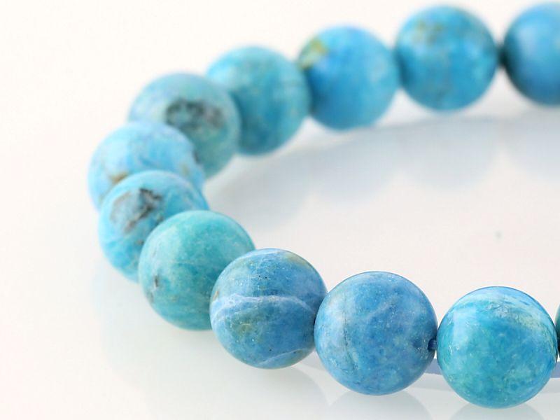 ブルーオパール ブレスレット 10.5mm玉 No.34 パワーストーン 天然石 フォレストブルー【画像現物】