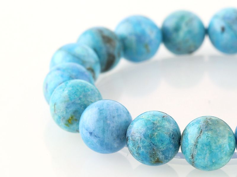 ブルーオパール ブレスレット 11.5mm玉 No.35 パワーストーン 天然石 フォレストブルー【画像現物】