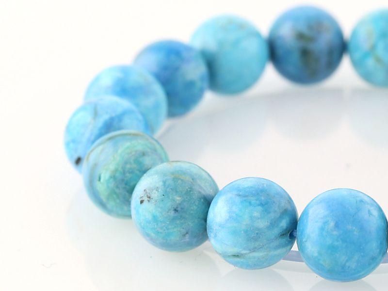 ブルーオパール ブレスレット 12mm玉 No.36 パワーストーン 天然石 フォレストブルー【画像現物】