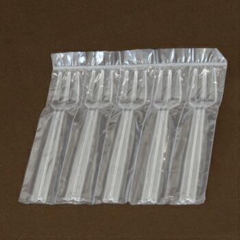 イベントや試食会に 爆買いセール 衛生的な個包装の使い捨てフォーク クリアフォーク5連#110 100本入袋 日本製 使い捨てフォーク テイクアウト デザート 業務用 プラスチックフォーク イベント