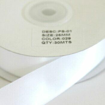 激安卸販売新品 25mm×約30m Sサテンリボン 25mm ホワイト 029 シングルサテン 光沢 ラッピング 包装資材 ロールリボン 人気 おすすめ ギフト