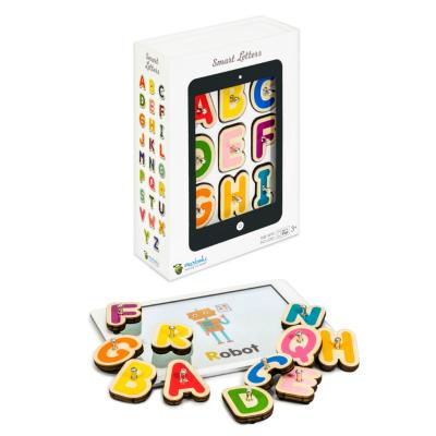 タブレットと木製ブロックで遊びながら学べる知育玩具 卓越 国内正規品 マルボティック 送料無料カード決済可能 スマート レターズ フランス発 学習玩具 Marbotic Letters タブレットを使ったモンテッソーリ知育 Smart
