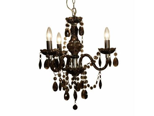 シャンデリア『Maestro chanderier black』 アクリル スチール ブラック 60W 4灯 LED可 高さ調整可 重量1.6kg クラスティーナ