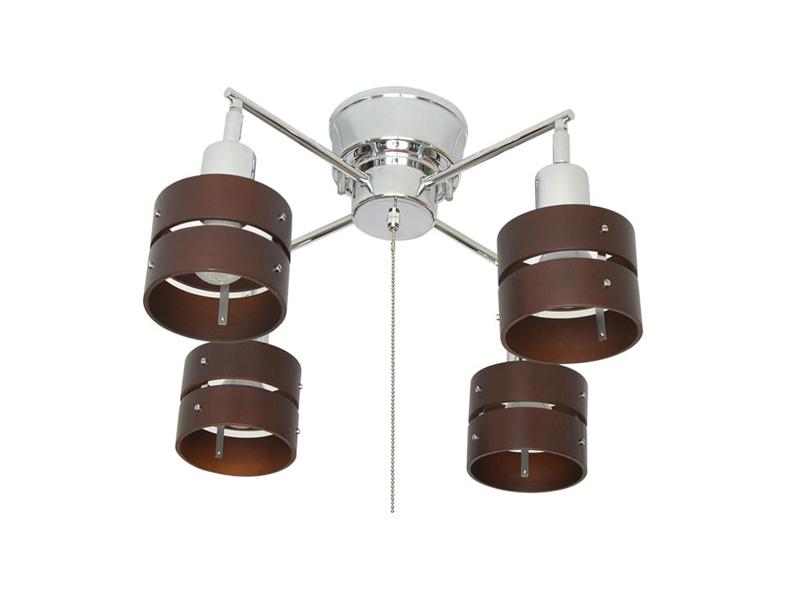 スポットライト『VENTO』 4灯 クロスタイプ 照明 プルスイッチ 電球別売 60W LED対応 クラスティーナ