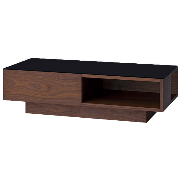 都会的な魅力溢れるシンプルモダンなリビングテーブル リビングテーブル 幅130cm テーブル 時間指定不可 センターテーブル ローテーブル 《週末限定タイムセール》 北欧 モダン ナチュラル シンプル インテリア 収納 家具 新生活 クラスティーナ おしゃれ 3年保証 ウォールナット ガラス 木製 リビング