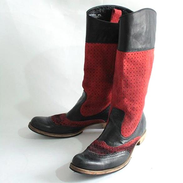 Giftur Crump ギフチャークランプ ブーツ レッド×ブラック 41.5【中古】