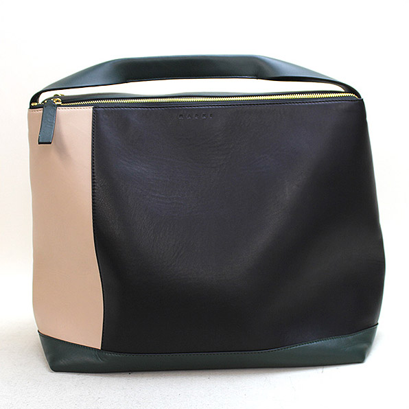 MARNI マルニ Pod Color-Block Leather Shoulder Bag/マルチカラーレザーショルダーバッグ ミックス 【中古】