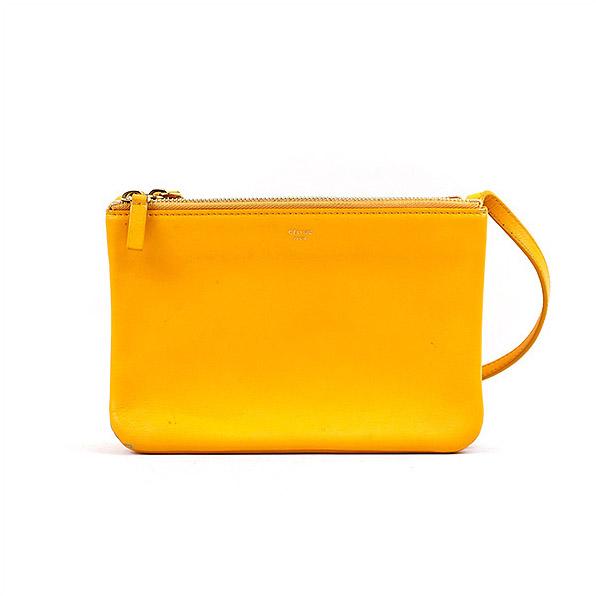 bb12b0370cdd MODESCAPE Rakuten Ichiba Shop  CELINE Celine Trio Crossbody Bag Leather  Small trio leather shoulder bag brand yellow