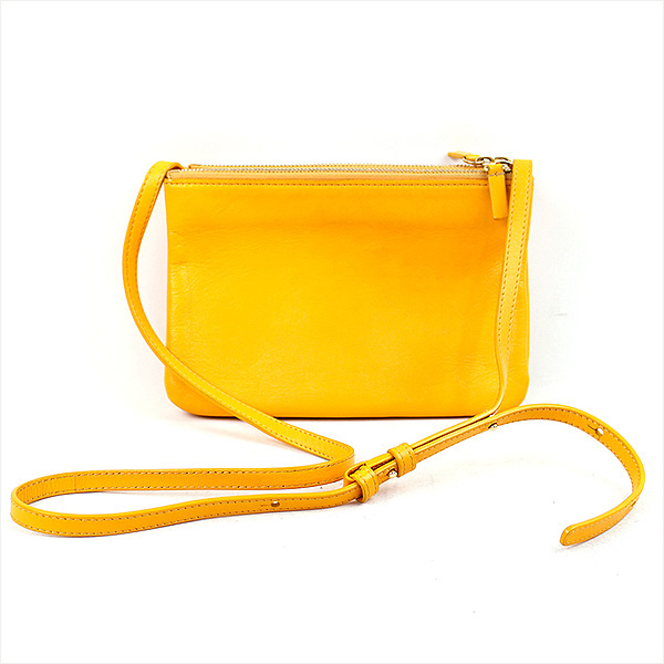 f7c77976de78 CELINE Celine Trio Crossbody Bag Leather Small trio leather shoulder bag  brand yellow