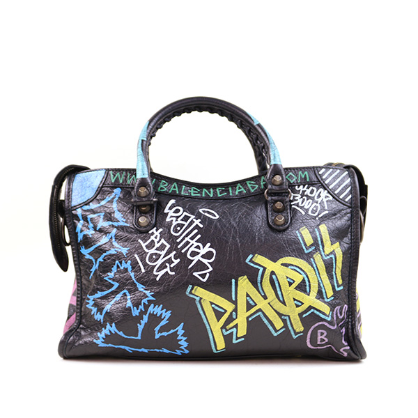 BALENCIAGA バレンシアガ 18SS GRAFFITI CLASSIC CITY S graffiti city bag brand  black S efa584cf0824b