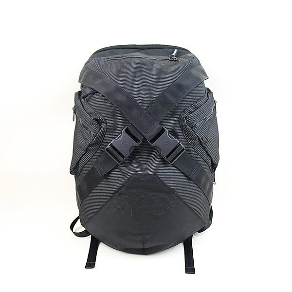 079a445484a5 【】Y-3 ワイスリー 13SS ロゴエンボスドットデザインバックパック リュック ブランド ブラック 【SUMMER SALE】夏物セール