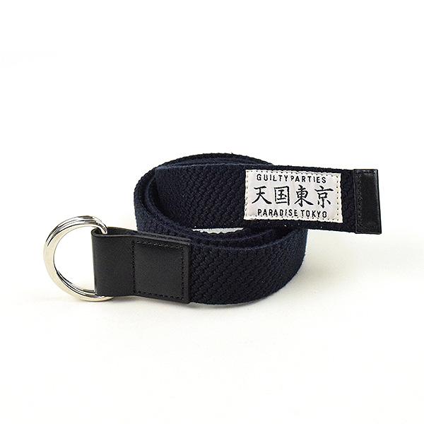【中古】WACKO MARIA ワコマリア オリジナルリングベルト ブランド ネイビー