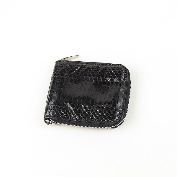 【中古】ALEXANDER WANG アレキサンダーワン パイソンレザー二つ折り財布 ウォレット ブランド ブラック