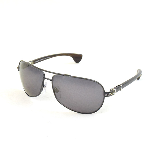 a09a471dab0 CHROME HEARTS chrome Hertz GRAND BEAST Wood temple metal frame teardrop  sunglasses 65 □ 13-126 brand gray 65 □ 13-126
