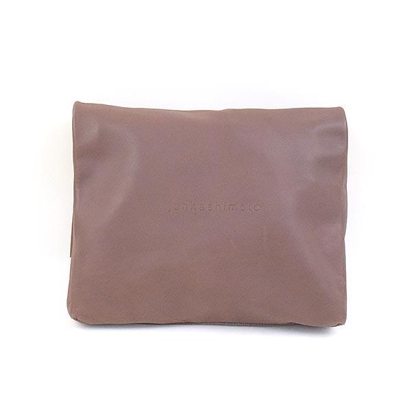 【中古】junhashimoto ジュンハシモト LEATHER EASY CLUTCH BAG レザーイージークラッチバッグ ブランド ブラウン