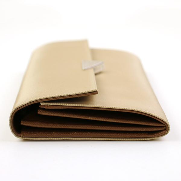 PRADA プラダ ロゴプレートナイロンロングウォレット 1M1036 財布 キャメルqMUVpSzG