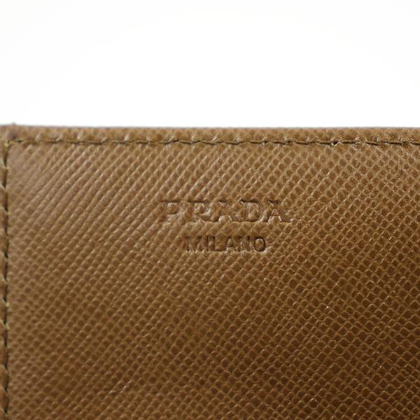PRADA プラダ ロゴプレートナイロンロングウォレット 1M1036 財布 キャメルjUGzMqLSpV