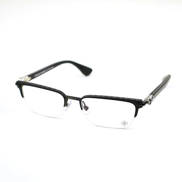【中古】CHROME HEARTS クロムハーツ SUGAR WALLS MBK SBK-MCF-P アイウェア 眼鏡 ブラック 54□19-143