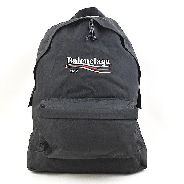 BALENCIAGA バレンシアガ 17AW キャンペーンロゴ刺繍エクスプローラーバックパック リュック ブランド ブラック