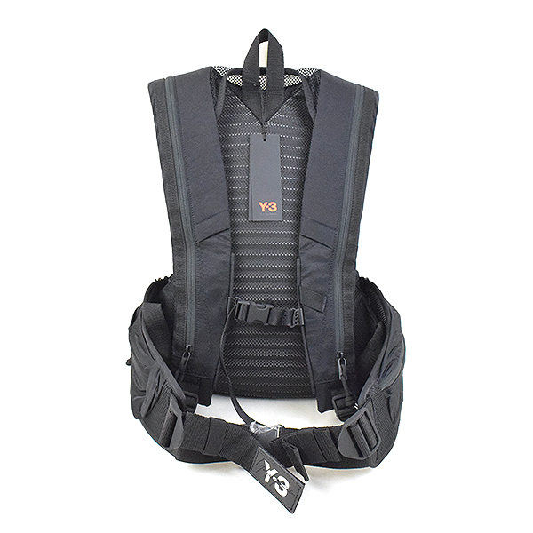 b6f4db420e Backpack rucksack brand black with Y-3 Weiss Lee 18AW RUNNING signature logo  hips strap