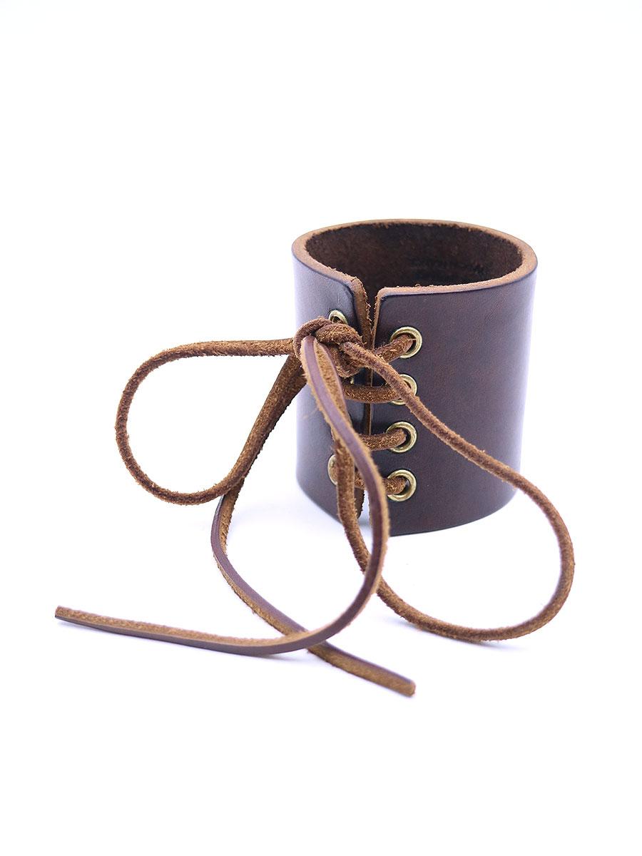 【中古】Maison Martin Margiela メゾン マルタン マルジェラ 2001AW 0/10 Leather Bracelet レザーブレスレット ブラウン