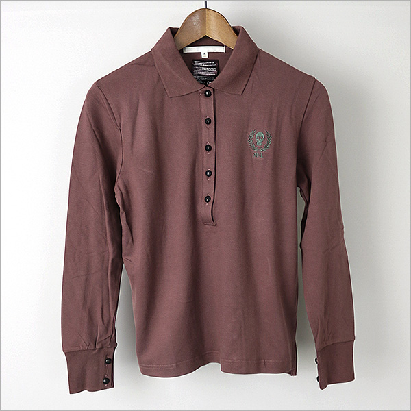 MARK &LONA mark and Rona long-sleeved Polo shirts wear Brown M