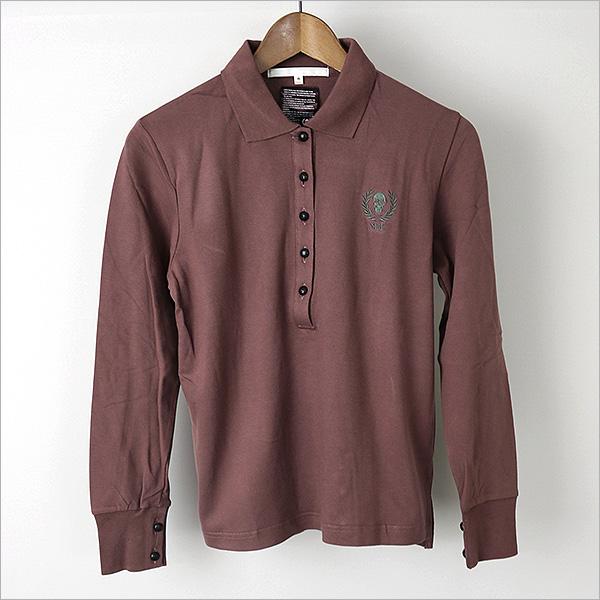 马克与洛马克和罗娜的长袖马球衬衫穿棕色 M05P01Oct16