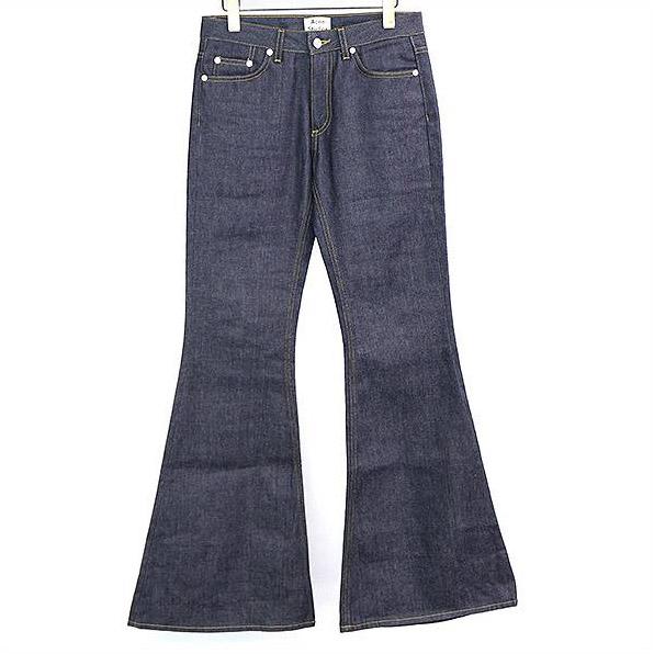 Acne Studios アクネストゥディオズ Mello Raw Short flared jeans フレアデニム インディゴ 34【中古】