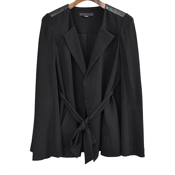 【中古】ALEXANDER WANG アレキサンダーワン レザー切替フレアスリーブデザインジャケット レディース ブラック 0