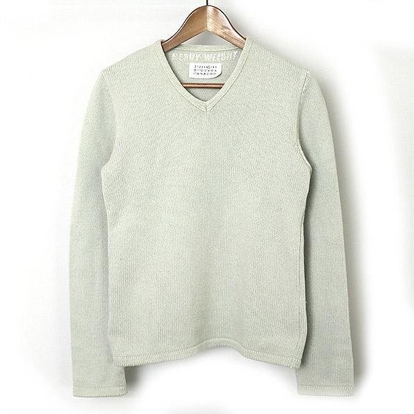 promo code c352d c698d Maison Martin Margiela6 maison Martin Margiela 6 DEANNA period HEAVY WEIGHT  nylon blend V neck wool knit sweater Lady's gray